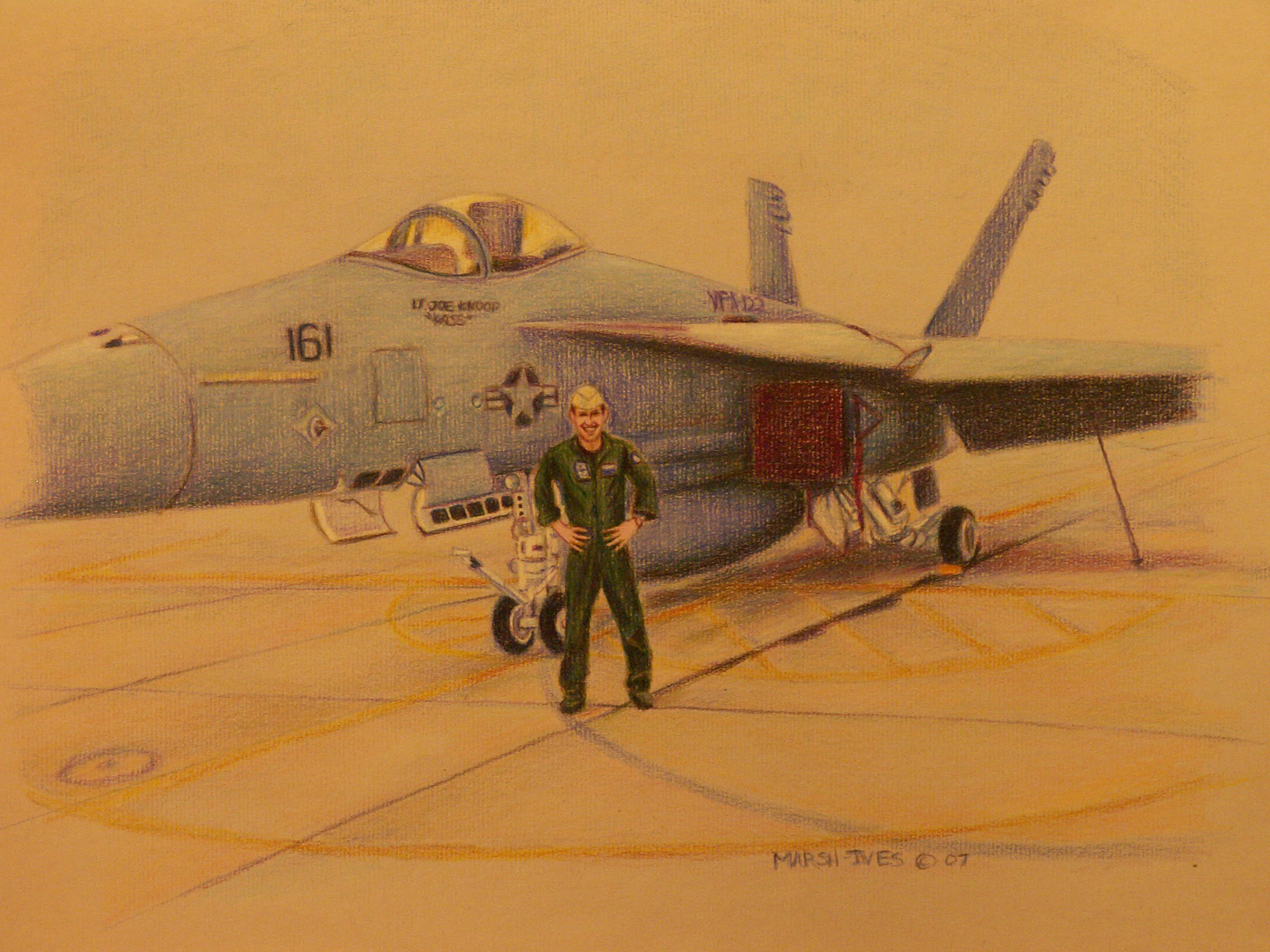 Ryan Long and his F18