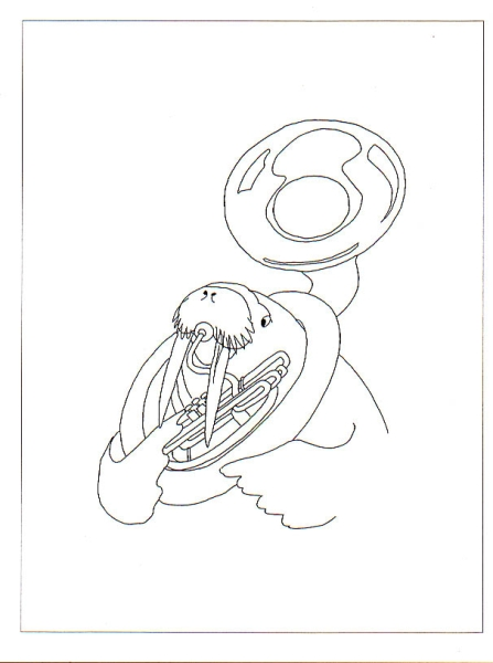 Walrus with Sousaphone