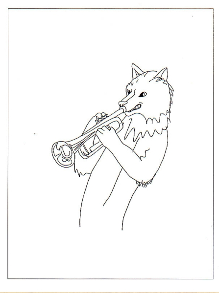 Wolf with Trumpet