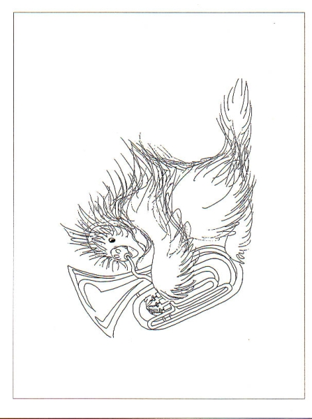Tundra Tunes - (greeting cards blank inside, black ink) - drawings of Alaskan animals playing instruments